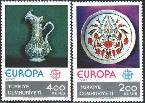 Turkey. 1976. 2385-86. Handicrafts, Europe-Sept. MNH.