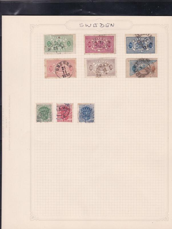 sweden stamps page ref 17420
