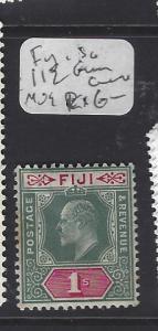 FIJI ISLANDS  (PP0410B)  KE 1/-  SG 112  GUM CREASE MOG