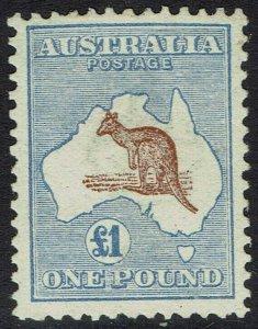 AUSTRALIA 1913 KANGAROO 1 POUND 1ST WMK