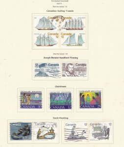 CANADA   ^^^^^1977   used  SETS collection on page  ( TOPICALS) @ dca348xxbca48