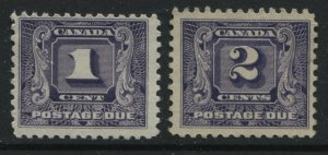 Canada 1930 1 and 2 cents Postage Dues unmounted mint NH