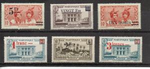 Martinique 190-195 MNH