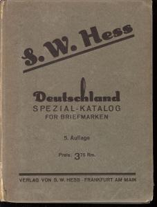 Deutschland Spezial-Katalog fur Briefmarken,