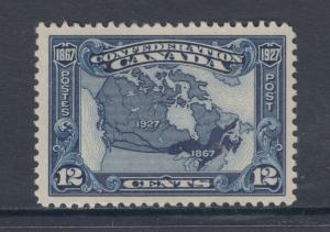 Canada Sc 145 MNH. 1927 12c Map of Canada, almost VF