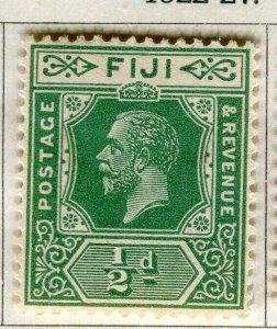 FIJI; 1922-27 early GV issue fine Mint hinged 1/2d. value