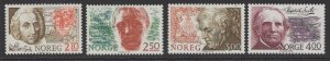 NORWAY SG985/8 1986 BIRTH ANNIVERSARIES MNH