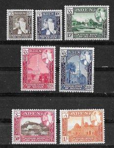 Aden-Kathiri # 29-35  Sultan Hussein - to 1sh value  (7)  VLH Unused