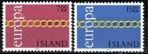 Iceland  #429-30  MNH CV $5.00 (S10807)