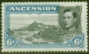Ascension 1944 6d Black & Blue SG43b V.F MNH