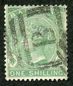 Bahamas SG44 1/- Green Wmk Crown CA Perf 14 Cat 14 pounds