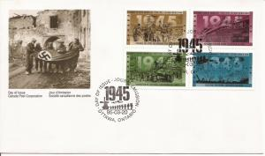 1995 Canada FDC Sc 1540a - WWII - 1944 - Victory in Sight