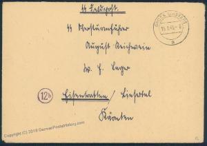 3rd Reich March 1945 Wehrertuechtigungslager SS Feldpost Cover 52774