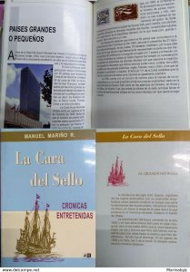 J) 1999 CHILE, BOOK, THE FACE OF THE SEAL, CHRONICLES ENTRETENIDAS, BOAT, BY MAN