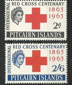 Pitcairn Island # 36-37  Red Cross Centenary   (2) Mint NH