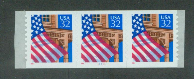 U.S. Scott 2915A VF MNH PNC Strip of 3