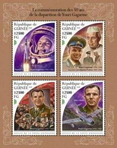 Guinea - 2018 Yuri Gagarin - 4 Stamp Sheet - GU18512a