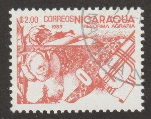 Nicaragua, stamp, Scott# 1299, used, single stamp, #1299