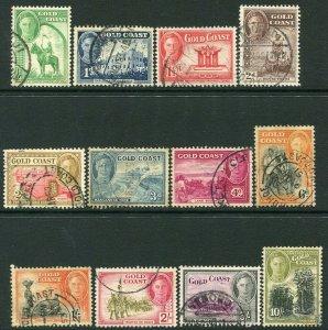 GOLD COAST-1948 Set to 10/- Sg 135-146 FINE USED V32857