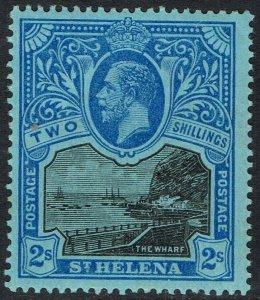 ST HELENA 1912 KGV THE WHARF 2/-