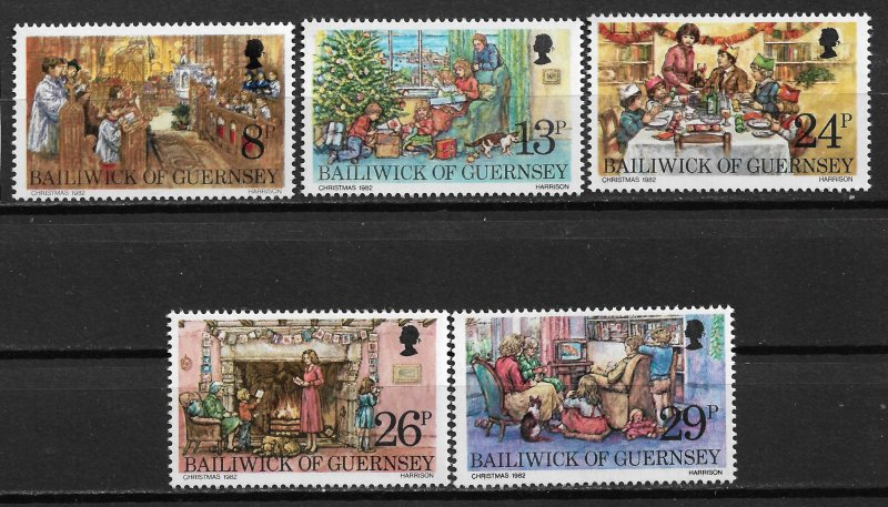 1982 Guernsey 250-4 Christmas C/S of 5 MNH