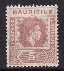 Mauritius 1938 KGVI 5c slate-lilac SG 255 mint