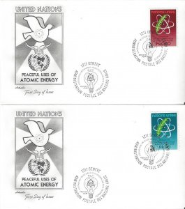 United Nations Geneva  71-2  FDC  Artmaster Atomic Energy