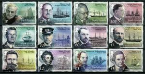 South Georgia & Sandwich Isl Stamps 2015 MNH Ships Scientists Explorers 12v Set