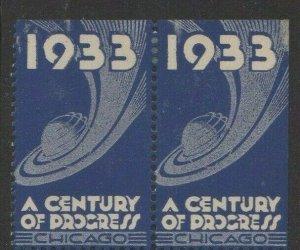 USA - 1933 Chicago World's Fair A Century of Progress Pair MH OG