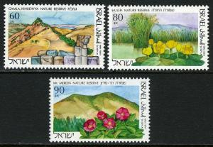Israel 1052-1054, MNH. Nature Reserves:Gamla,Yehudiyya;Huleh;Mt. Meron,1990