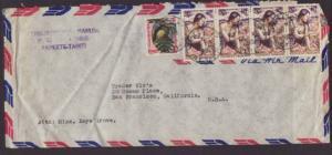 French Polynesia to San Francisco 1965  # 10 Size Cover