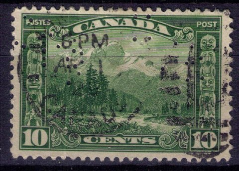 CANADA Sc 155 Used 10c Green Very Fine