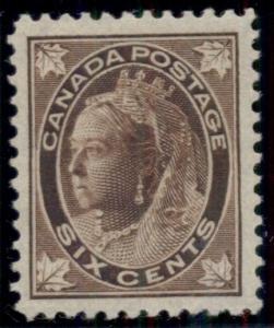 CANADA#71 6¢ brown, og, XLH (virtually NH), PSE Grade 90XF