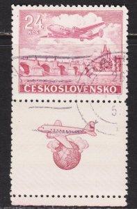 Czechoslovakia Scott C26 F to VF used with label.