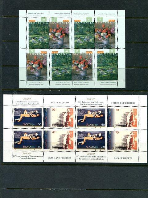 Slovenia 1995/96 Europa sheets Mint VF NH