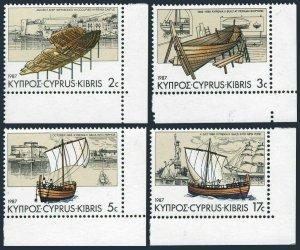 Cyprus 689-692,MNH.Michel 683-686. Ships named Kyrenia,1987.