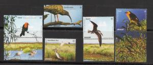 ENVIRONMENT RAMSAR WETLANDS FAUNA BIRDS URUGUAY 2015 MNH STAMPS