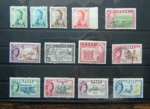 Fiji 1959 - 63 values 1962 - 1967 values to 5s MM or Used