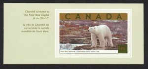 POLAR BEAR = stamp cut from booklet = Canada 2003 #1990b MNH