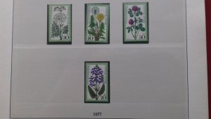 Gernany 1977 Charity Stamps - Flowers Mint