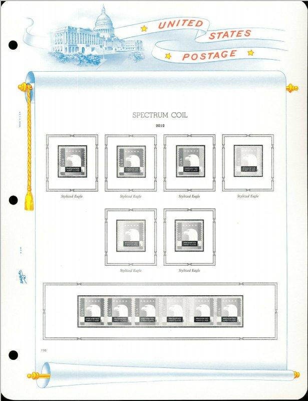 WHITE ACE 2012 US Regular Issue Singles & Coil Pairs Album Supplement RSC-36