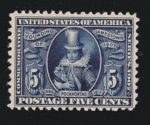 US 330 5c Jamestown Exposition Mint F-VF OG LH SCV $140