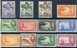 CAYMAN ISLANDS SCOTT# 100-11 SG# 115-26 NO 120a 121a MINT NH/LH AS SHOWN