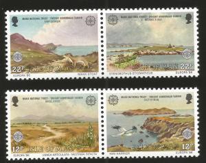 J) 1986 ISLE OF MAN, EUROPA CEPT, LANDSCAPE, MANX NATIONAL TRUST, SET OF 4