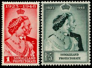 SOMALILAND PROTECTORATE SG119-120, COMPLETE SET, NH MINT. RSW.