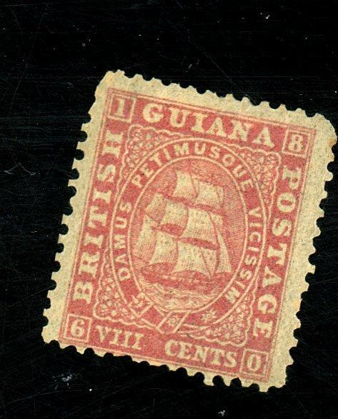 British Guiana #20 MINT FVF OG HR Cat$825
