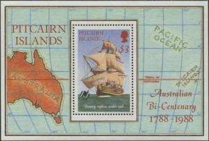 Pitcairn Islands 1988 SG314 $3 Bounty MS MNH