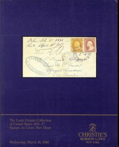 The Louis Grunin Collection of United States 1851-57 Stam...