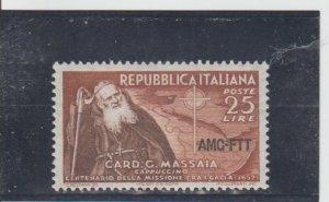 Trieste  Scott#  156  MH  (1952 Overprinted)