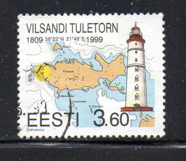 Estonia Sc 356 1999 Vilsandi Lighthouse stamp used